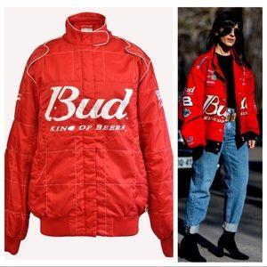 Bud King Of Beers NASCAR Racing Jacket XL